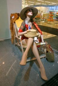 beach store mannequin