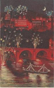 fireworks postcard
