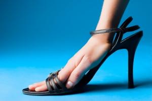hand in shoe