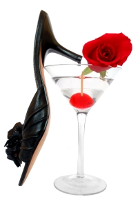 shoe in glass